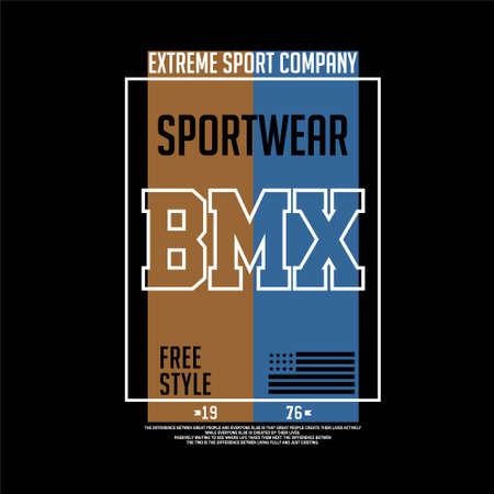 sportwear extreme sport bmx vintage fashion Vettoriali