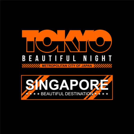 tokyo singapore city vintage vector