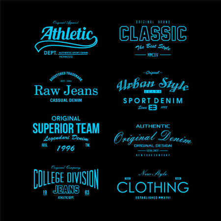 word vintage fashion vector simple design