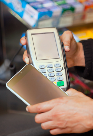pagando: Paying by phone.