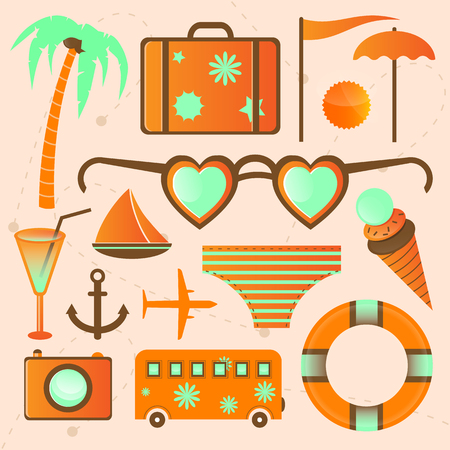 More summer vector icons for web, magazine; festival and other.  Vector