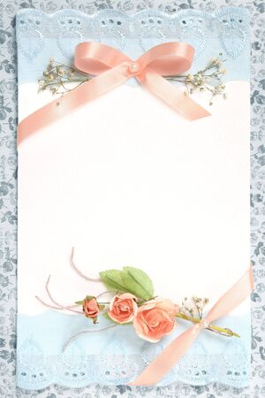 blank vintage paper with flowers design