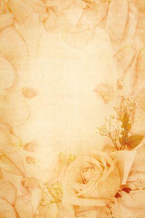 pergamino: antiguo papel con dise�o floral