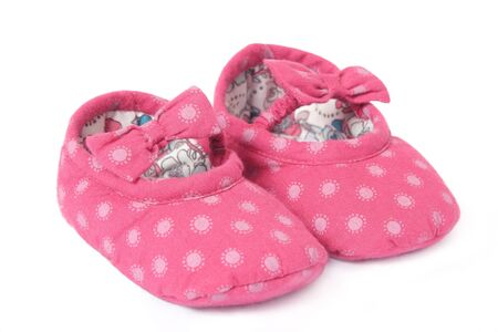 Pair of Babies first shoes Stock Photo