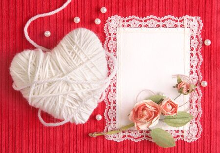 Valentines card with copy space photo