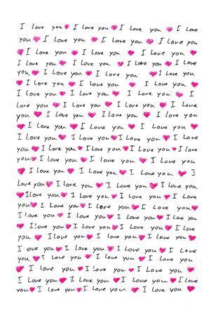 love letter written by hand Stock Photo