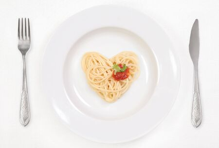 I love Spaghetti! Stock Photo