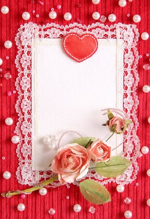 Valentines card with copy space