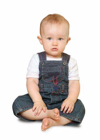 сute baby isolated on white background