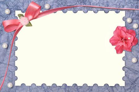 paper card with design frame Stok Fotoğraf