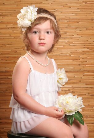 retro portrait of beautiful girl