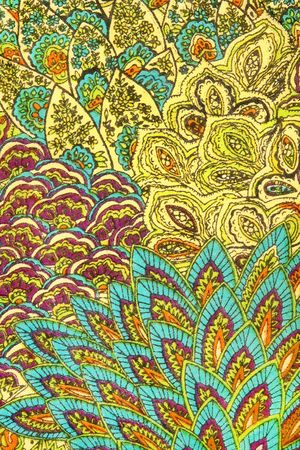Indian pattern on fabric.