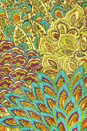 motif indiens: Patron indien sur tissu.