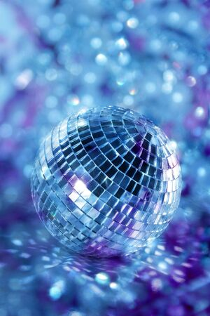 Shiny disco ball in blue light Stock Photo - 7926037