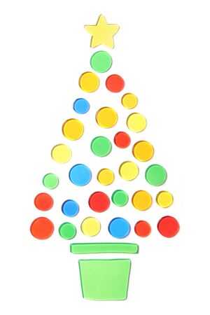 abstrac Christmas tree on a white background