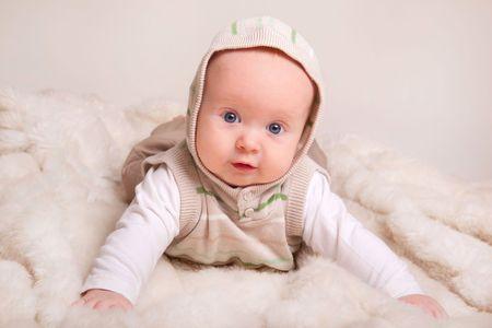 cute baby, studio shot(4 months old)