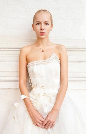 Romantic bride portrait Stok Fotoğraf