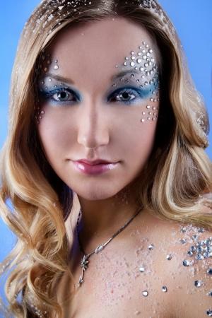 fashion look makeup Stok Fotoğraf