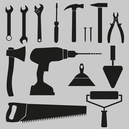 Home tools for repair. Vector illustration.