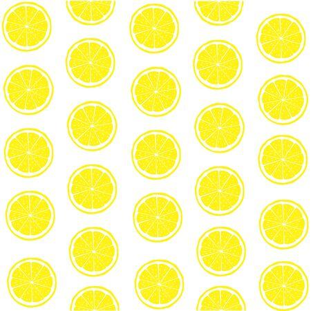 Vector illustration of lemon. Fruit background.