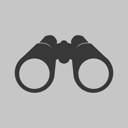 Vector illustration of binocular icon. Flat design.  イラスト・ベクター素材