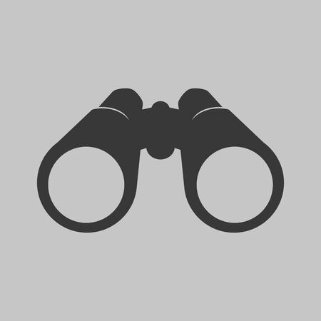 Vector illustration of binocular icon. Flat design. Illusztráció