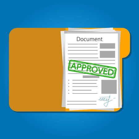 Job application approved. Flat vector illustration isolated.