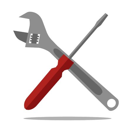 Tools Icon flat style isolated on white background. Vector illustration.