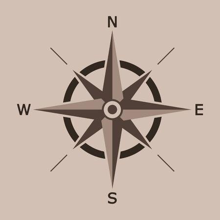 Vektor-Illustration der Windrose isoliert.