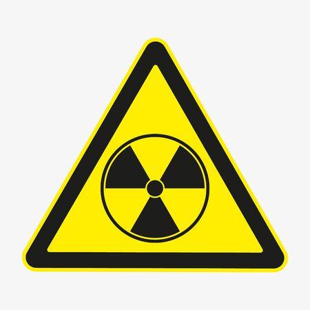 Vector illustration of radio hazard danger sign.