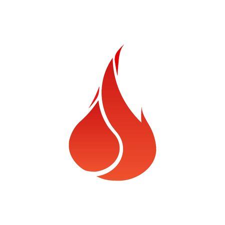Fire flames. Icon. vector logo design template. Illustration.