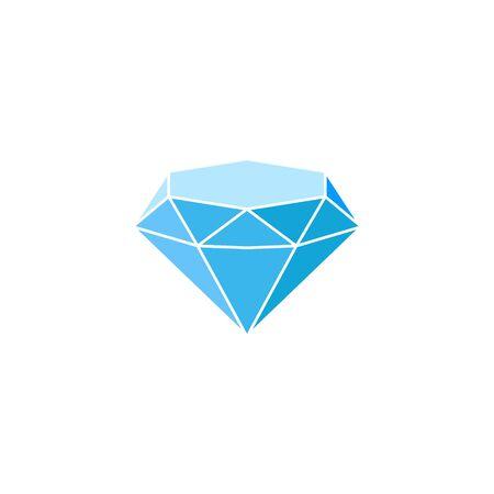 Blue diamond Icon Isolated on white background. Vector illustration.