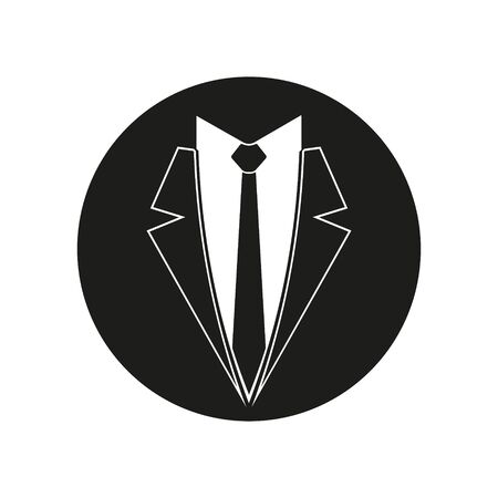 Tie Business suit icon. Vector illustration.