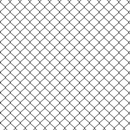 Simple wired fence pattern. Vector illustration. Çizim