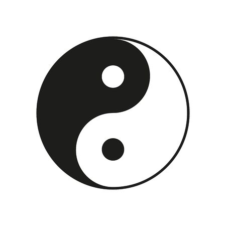Yin Yang vector illustration. Black and white. Isolated. Vector Illustration