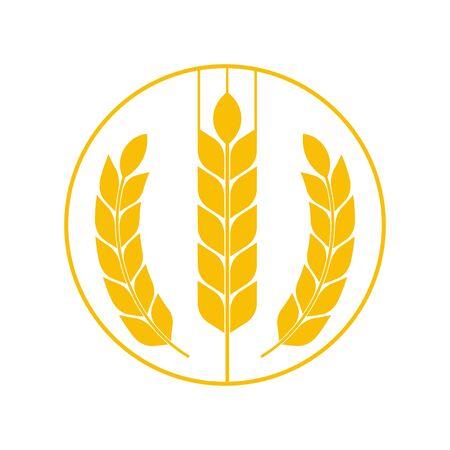 Agriculture wheat Template vector icon design. Vector. Stock Illustratie