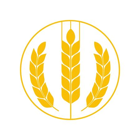 Agriculture wheat Template vector icon design. Vector. Illustration