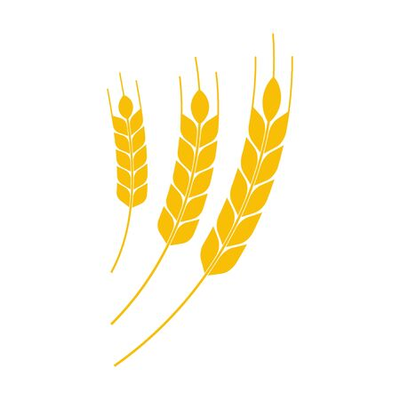 Vector illustration of wheat earth icon. Isolated. Illustration