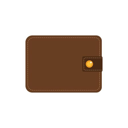 Vector icon of a beautiful wallet with money in flat style.