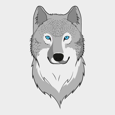 Wolf animal face. Grey wolf head. Vector illustration. Stock Vector - 134824211