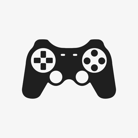 Game controller icon design. Vector illustration. Isolated.