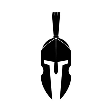 Vector illustration of spartan helmet icon.