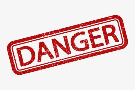Grunge rubber stamp with word Danger, vector illustration. 向量圖像
