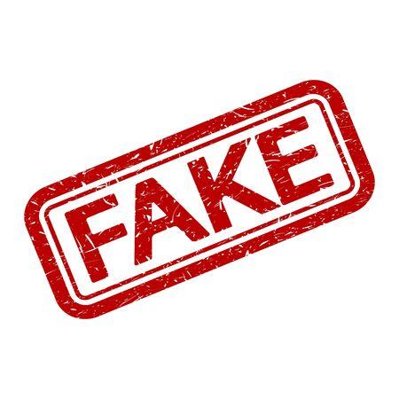 Sello de goma Grunge con palabra falsa, ilustración vectorial. Ilustración de vector