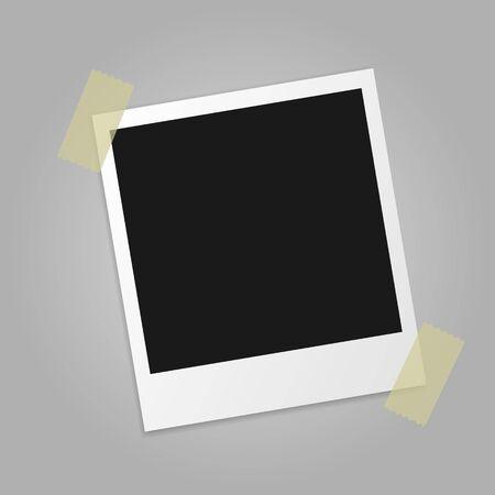 Vector illustration of vintage photo frame. Isolated. Ilustração