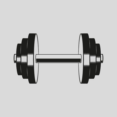 Vector illustration of dumbbell vector icon design.