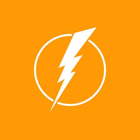 Electricity rounded icon. Vector illustration style flat icon. Ilustrace