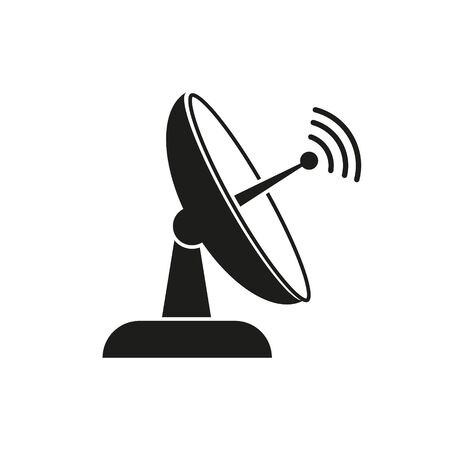 Satellite TV vector icon. Simple isolated sign symbol.