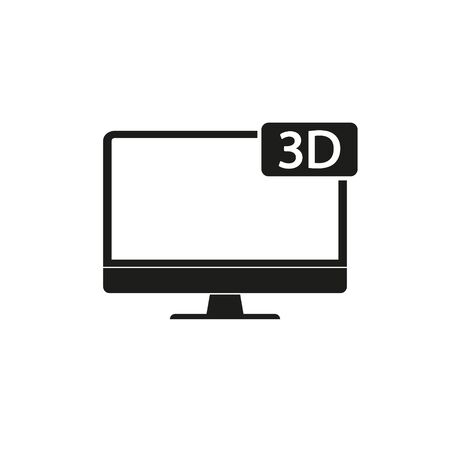 Monitor PC, Icon computer screen flat style. Vector. Ilustrace