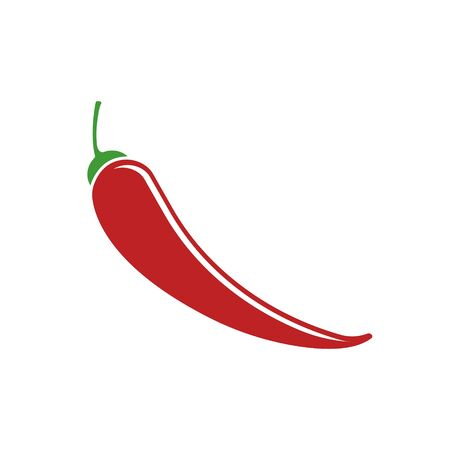 Chili pepper color flat icon for web and mobile design Ilustrace